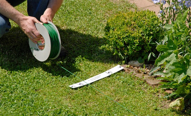 Установка робота газонокосилки
